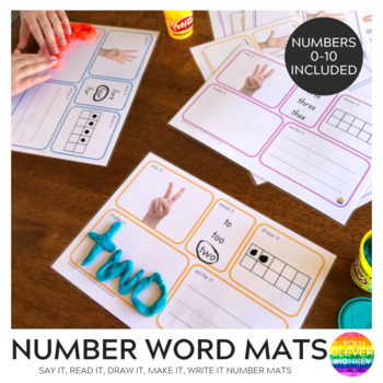 Number Word Mats 0-10 With Real Life Photos
