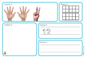 Number Word Mats 11-20 with Real Life Photos