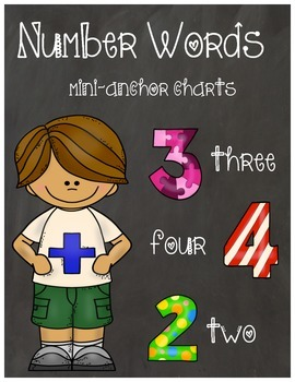 Number Word Mini-Anchor Charts