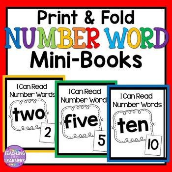Number Word Mini-Books
