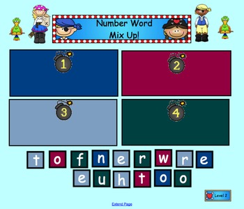 Number Word Mix Up for Smartboard
