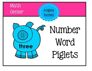 Number Word Piglets
