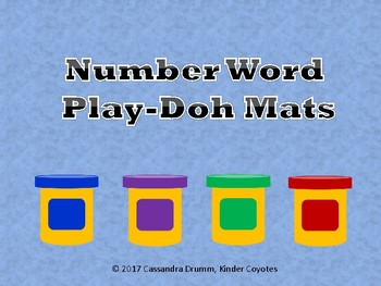 Number Word Play-Doh Mats