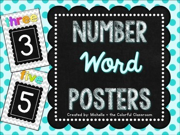 Number {Word} Posters