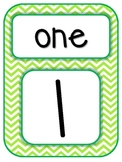 Number Word Posters Freebie