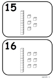 Number Word Posters and Matching Game with Base Ten Blocks