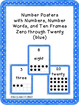 Number Word Posters (blue)