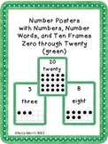 Number Word Posters (green)