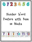 Number Word Posters w/ Base Ten Blocks