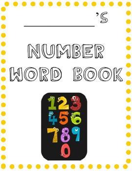Number Word Practice Book 1-10
