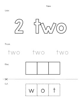 Number Word Practice Pages