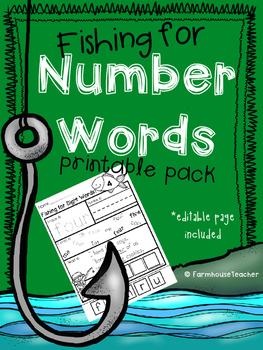 Number Word Practice Printable Pack