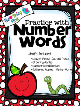 Number Word Practice with Apples