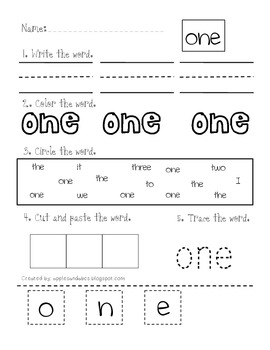 Number Word Printables: Zero to Twenty