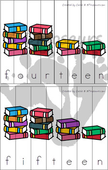 Number Word Puzzles & Book: 0 to 20