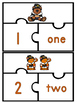 Number Word Puzzles- Fall/Thanksgiving Theme