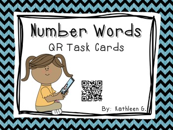 Number Word QR Code Task Cards
