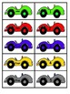 Number Word Race Car Matching Activity