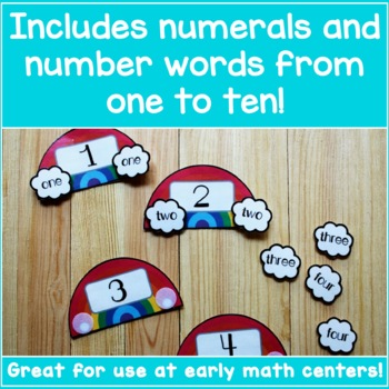 Number Word Recognition - Rainbow Number Puzzles!