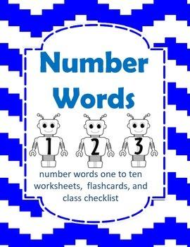 Number Word Robots