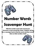 Number Word Scavenger Hunt!