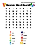 Number Word Search With Visual Clues