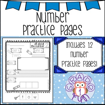 Number Word Spelling Pages