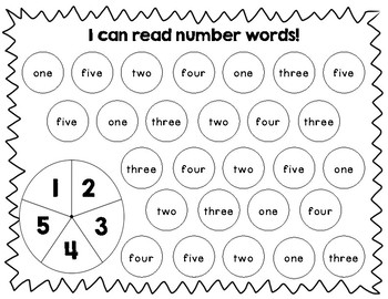 Number Word Spin!