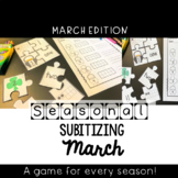 Number Word, Ten Frame, and Tally Mark Puzzle {March}