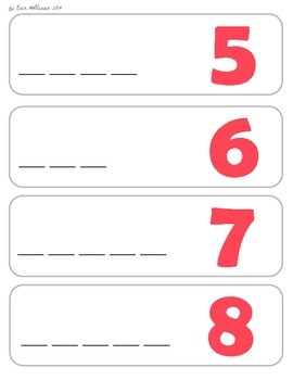 Number Word Vocabulary Cards and Spelling Practice