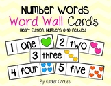 Number Word Wall Cards (0-10) - HEARTS