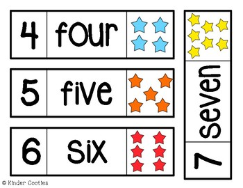 Number Word Wall Cards (0-10) - STARS