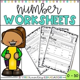 Number Worksheets 1-50