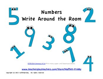 Number Word Write Around the Room