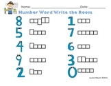 Number Word Write the Room