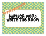 Number Word Write the Room FREE