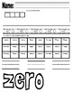 NUMBER PAGES 0-20 (counting, maze, word writing, etc.)