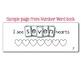 Number Word book - Interactive Emergent Reader