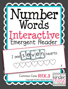 Number Word book - Interactive Emergent Reader