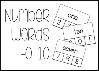 Number Words 0-10 Clothespin Task Box Materials