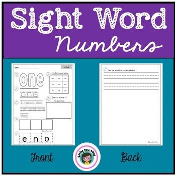 Number Words 0 - 10 Cut & Paste Activity
