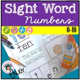 Sight Word Practice for Number Words and Data Sheet
