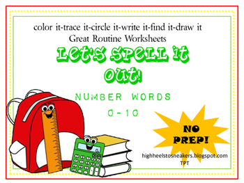 Number Words- 0-10 No Prep
