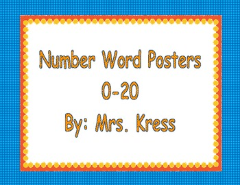 Number Words 0-20