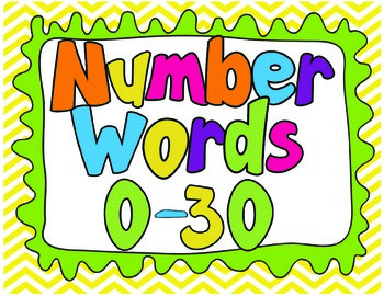 Number Words 0-30