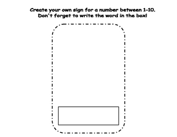 Number Words 1-10 Write the Room (Includes 3 levels of answer sheets)