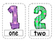 Number Words 1-10 Write the Room (Includes 3 levels of ans
