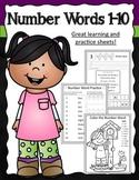 Number Words 1-10