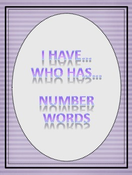 Number Words 1-20_I have...Who has...