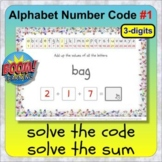 Alphabet Number Code #1 BOOM distance learning letters to